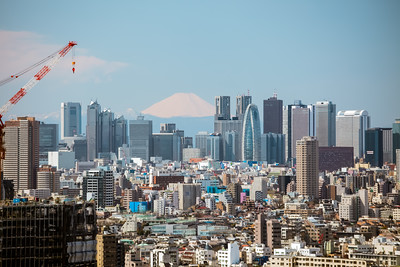 Fuji-san with Shinjuku Skyline