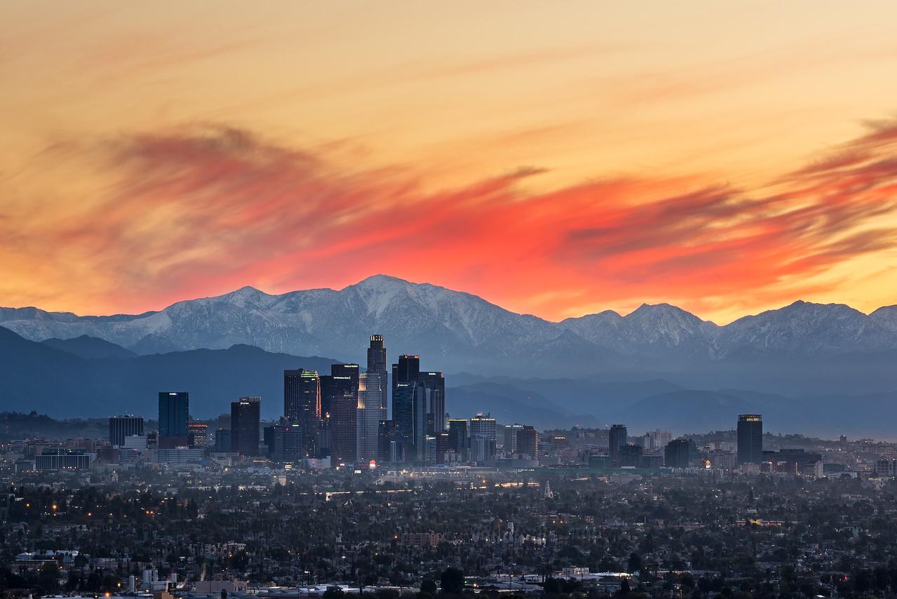 Sunrise burn, Kenneth Hahn park Los Angeles