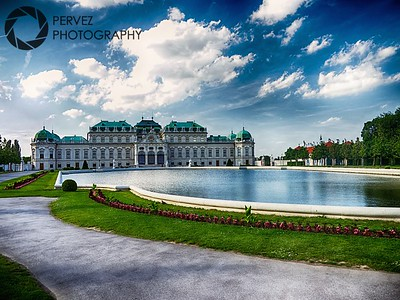 Belvedere Palace on a summer day in Vienna