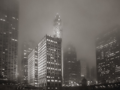 Chicago - Foggy Evening