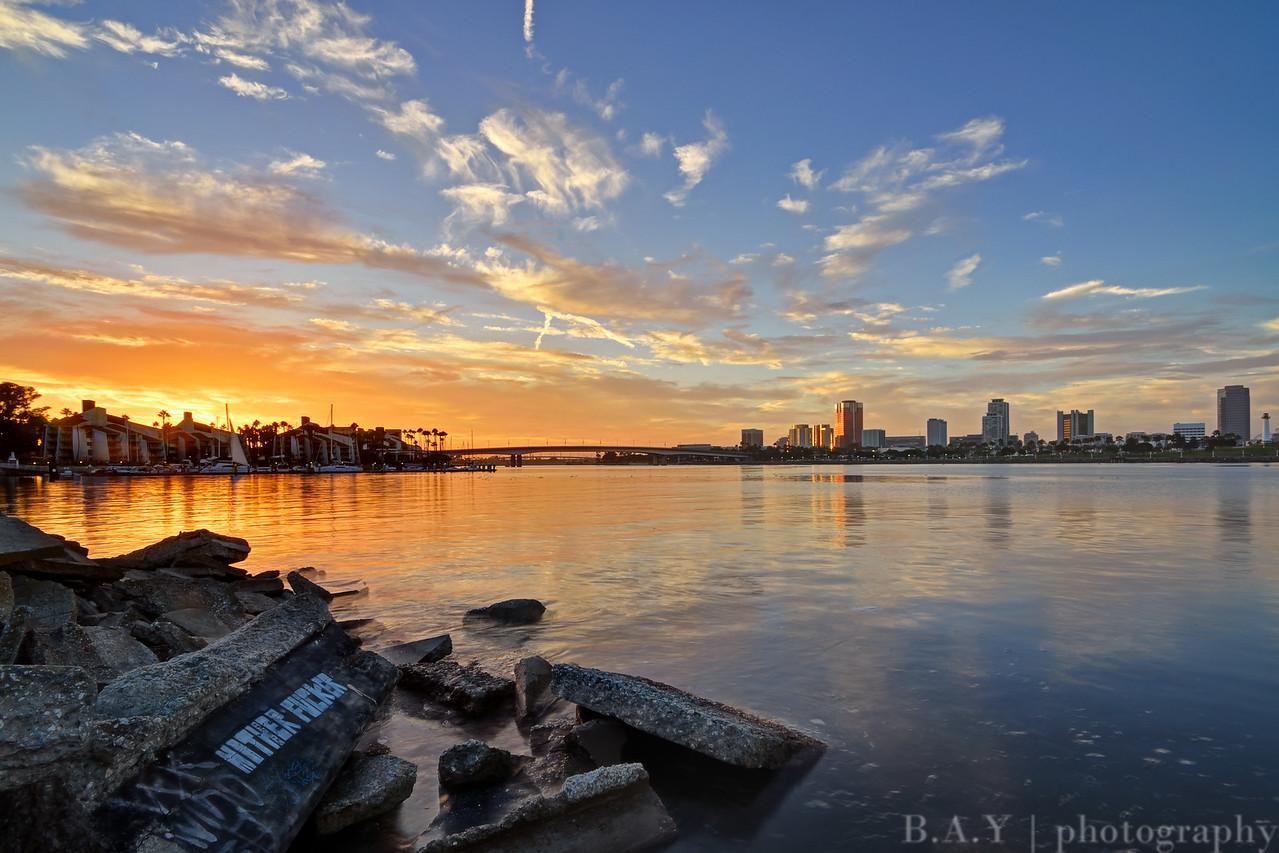 Downtown Long Beach sunset