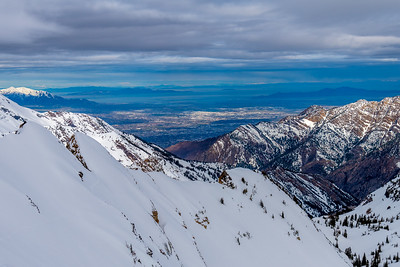 Salt Lake from the Wasatch