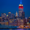 Empire State Building lit for Presidents Day
