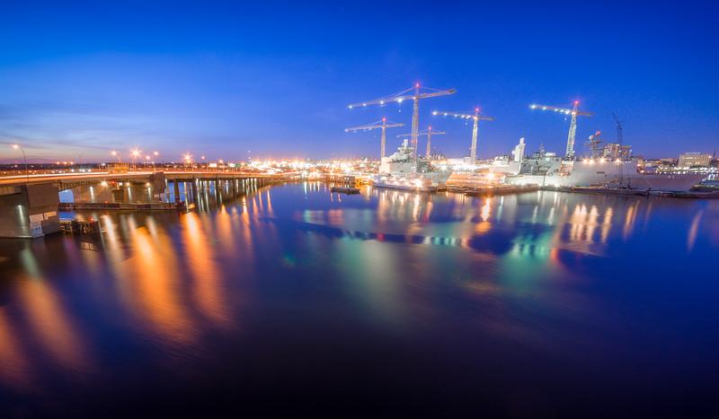 Blue Hour Cranes