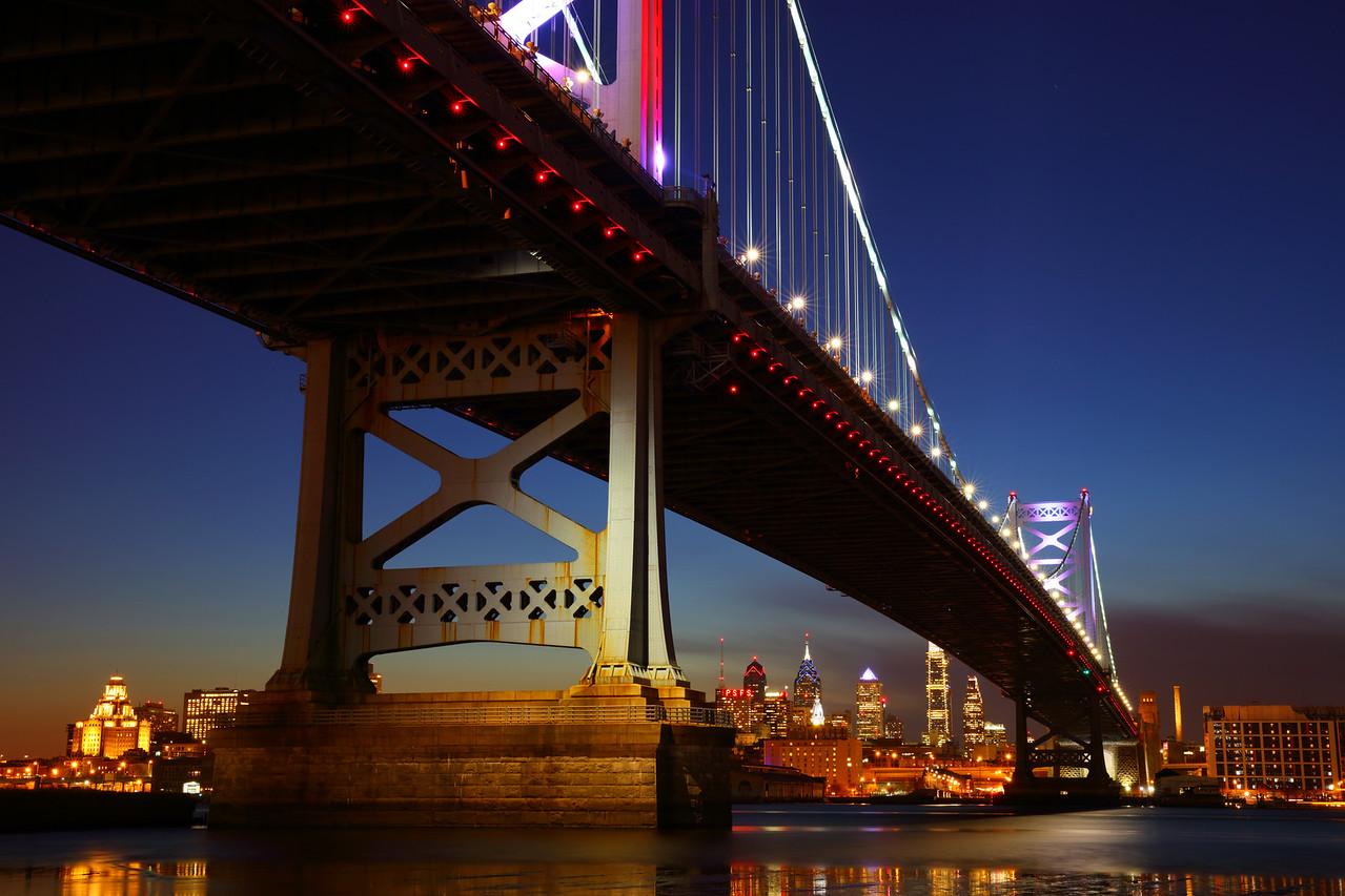 Ben Franklin Bridge as Seen from Camden