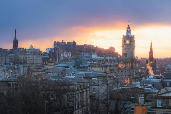 Edinburgh City Sunset, Scotland