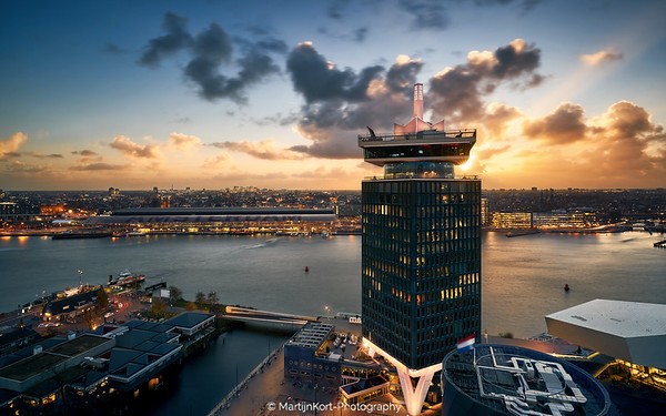 Amsterdam Icons during sunset