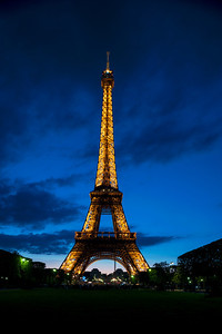 Evening at the Eiffel Tower