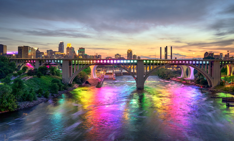 Minneapolis Lit Up For Gay Pride 2018