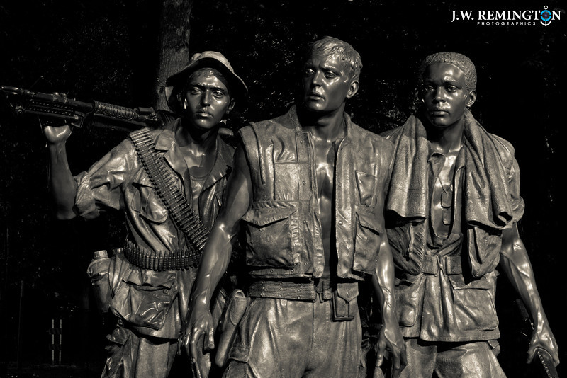 The Three Soldiers, Night, Black & White