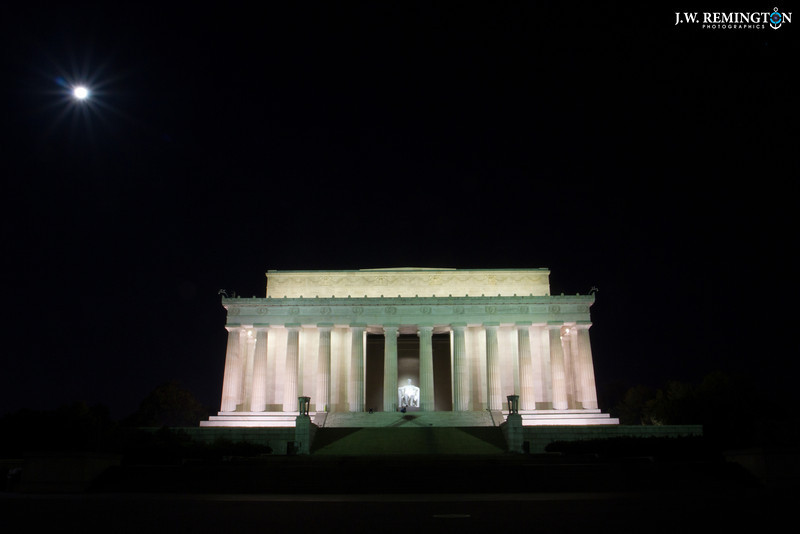 Lincoln Memorial with Moon