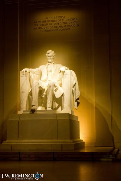 Lincoln Memorial, Interior, Warm Glow