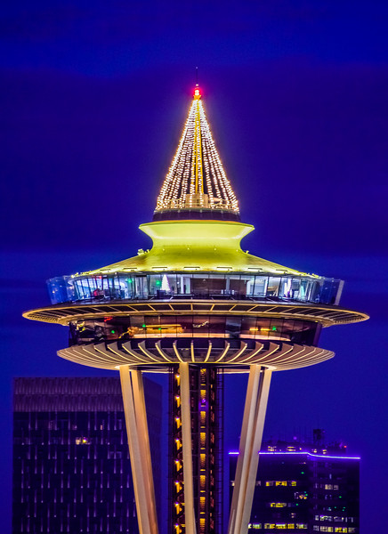 Festive Space Needle