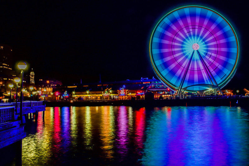 Seattle Great Wheel's Colors