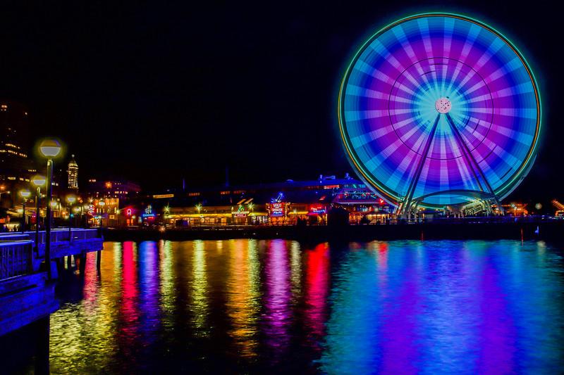 Seattle Great Wheel's Colors