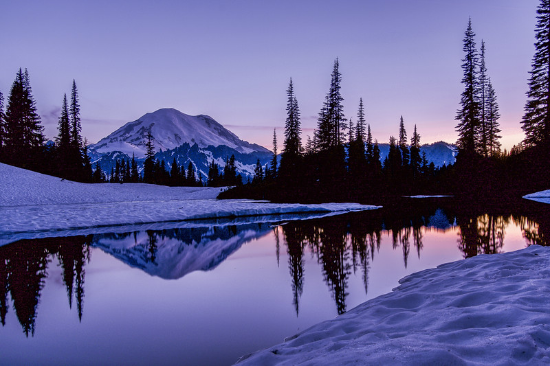 Mount Rainier Sunset Reflections