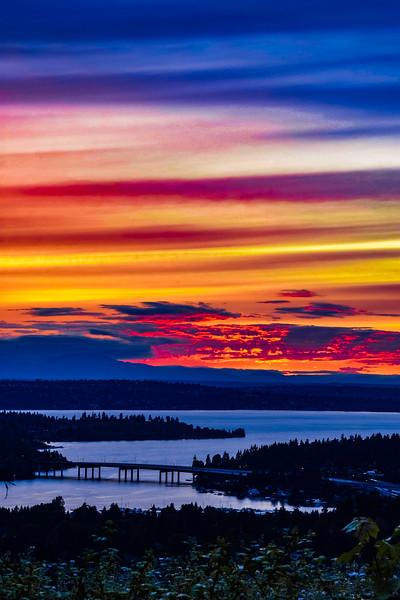 Rainbow Sunset Afterglow