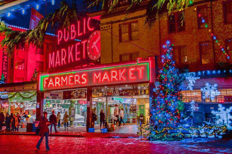 Festive Pike Place Market