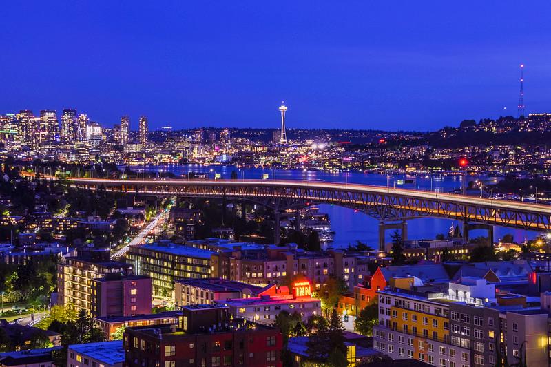 Seattle's Blue Hour Beauty
