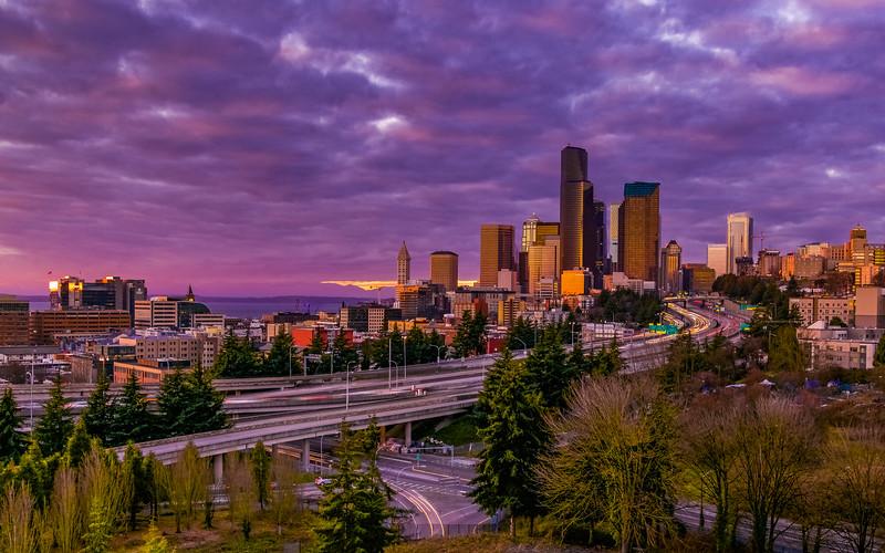 Seattle Sunset Sky