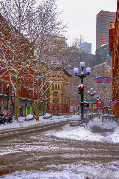 Snowy Pioneer Square