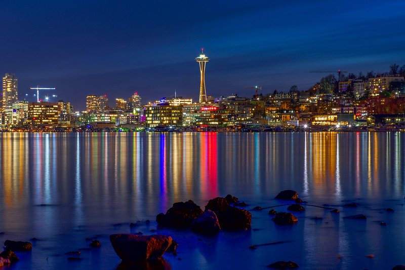 Magical Seattle Blue Hour