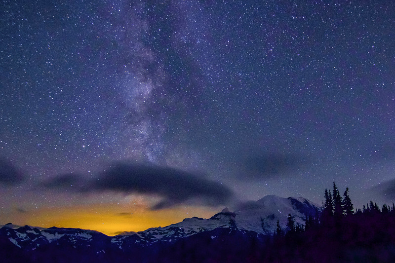 Magical Milky Way, Magnificent Orca Cloud & Majestic Mt. Rainier
