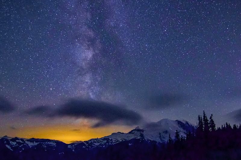 Magical Milky Way, Magnificent Orca Cloud & Majestic Mt. Rainier
