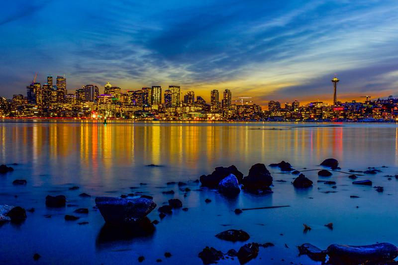 Seattle Sunset Reflections