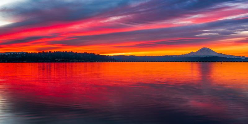 Seattle Sunrise Panorama