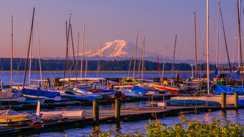 Golden Hour at Leschi Marina