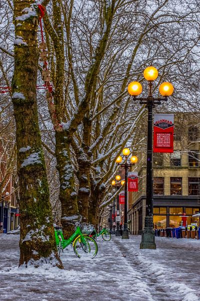 Wintry Pioneer Square