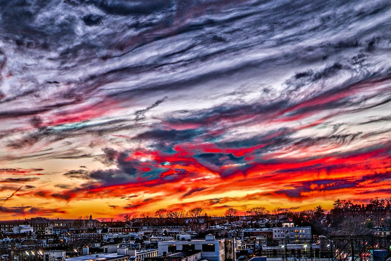 cool skies ablaze