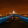 St Pauls stands beautifully from the far end of the Millennium Bridge