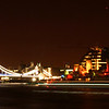 A panoramic view of Tower Bridge and HMS Belfast