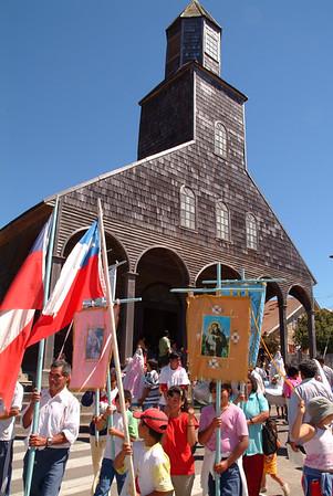 Celebracion del dia de la Candelaria en Achao