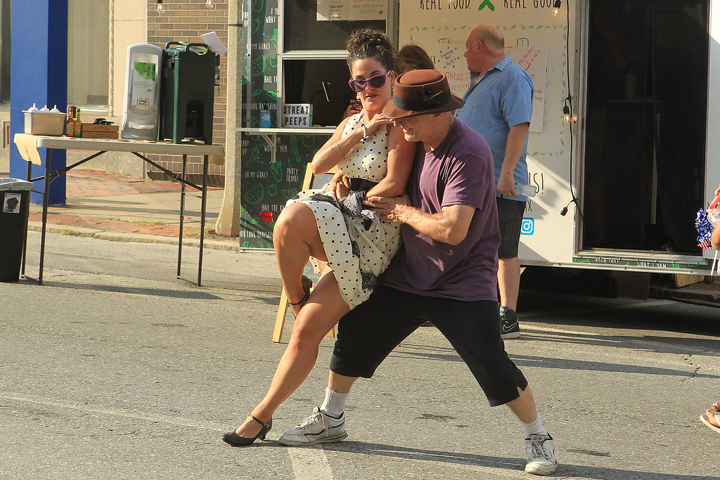 . Alan Cormier and Brie Sullivan swing dance at Civic Day SENTINEL&ENTERPRISE/Scott LaPrade