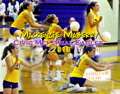 2010 Mackenzie Maberry Volleyball Collage
