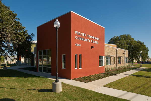 Frazier Townhomes Community Center (Dallas Housing Authority).  Client:  BRW Architects, Dallas.