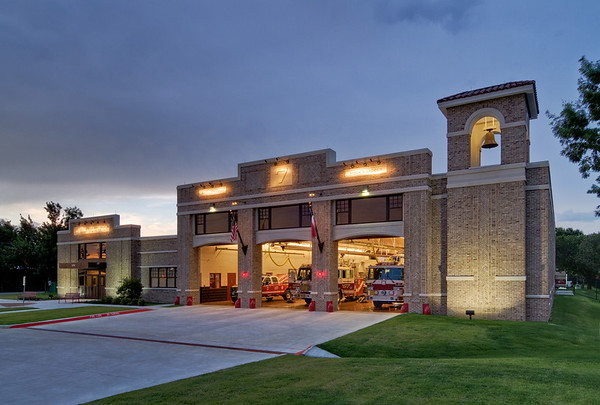 Lewisville Fire Station #7.  Client:  BRW Architects, Dallas.