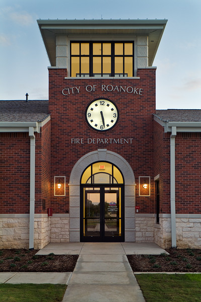 Roanoke Fire Station #1.  Client: BRW Architects, Dallas.