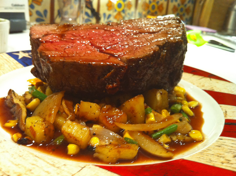 Brennen cooked tenderloin dinner
