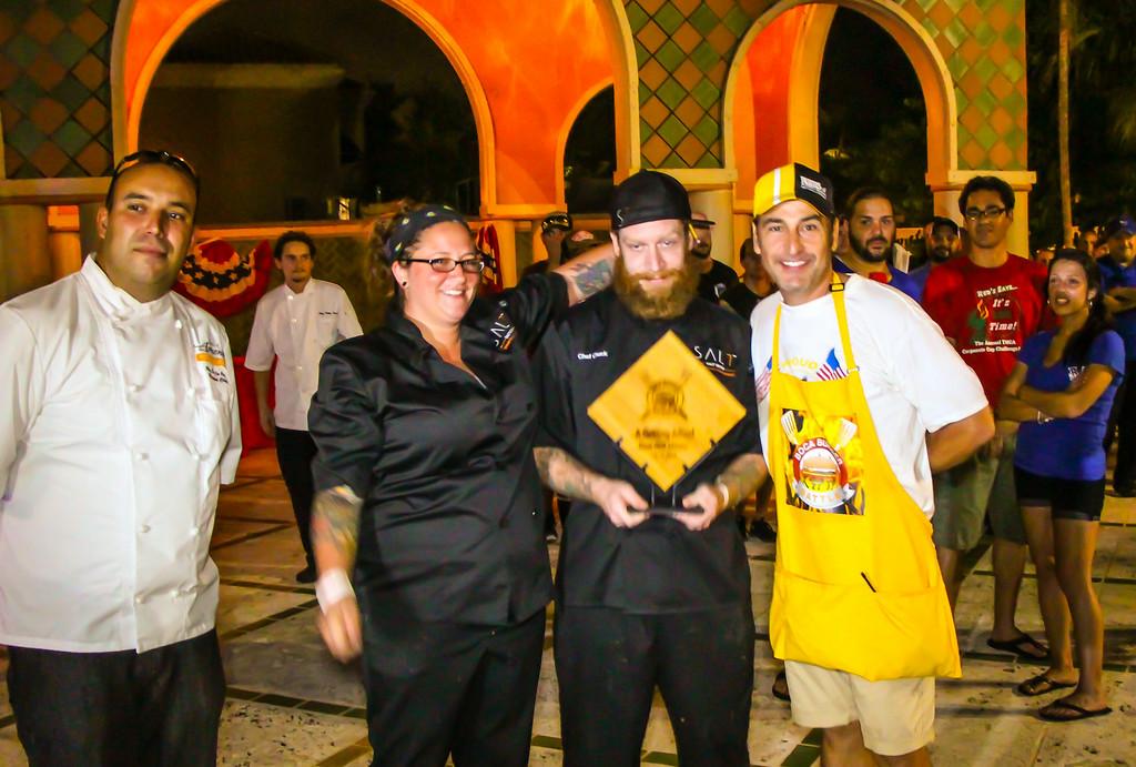 "Salt Seven, 32 SE 2nd Ave, Delray Beach, FL ( <a href=""http://www.Salt7.com"">http://www.Salt7.com</a>) <br /> 2014 Boca Burger Battle Grill Master Winner"