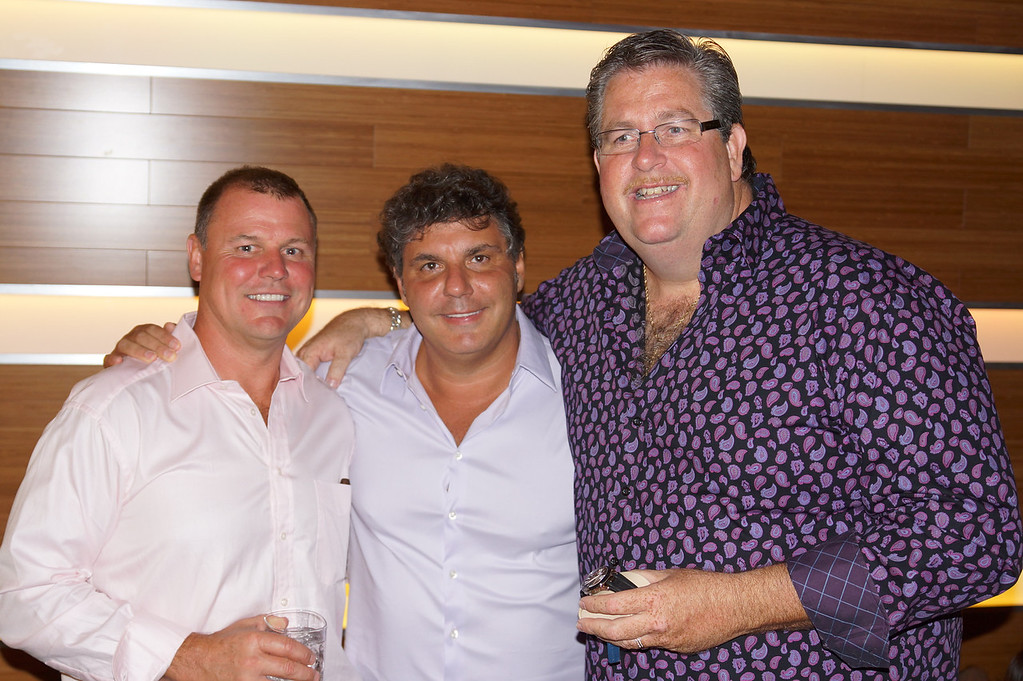 Left to Right... Tom Culkar and John Kostoglou (Owners of SALT Seven), George Miguel, General Contractor for the restaurant.