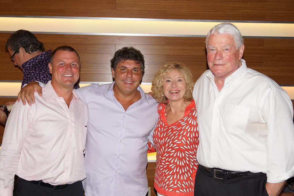 Left to Right... Tom Culkar and John Kostoglou (Owners of SALT Seven), Elaine Morris, Bill Morris, Landlord.