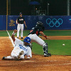Olympics+Day+5+Baseball+Taekkeun Lee #29 of Korea scores the winning run in the ninth inning on a hit by Lee Jongwook #39 to defeat the United States 8-7 during their preliminary baseball game