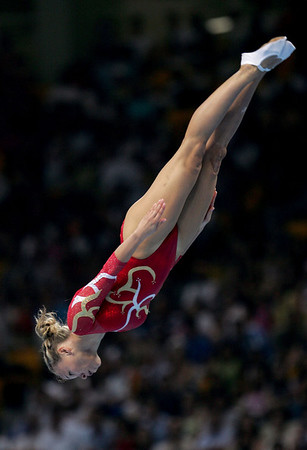 Best+Olympic+Games+Day+7+Karen Cockburn of Canada competes in the women's trampoline final on August 20, 2004 during the Athens 2004 Summer Olympic Games at the Olympic Sports Complex