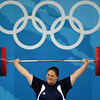 Olympics+Day+8+Weightlifting+Cheryl Haworth of the United States completes a successful lift of 115 kg n the women's +75kg group A weightlifting event at the Beijing University