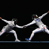 Olympics+Day+8+Fencing+Hanna Thompson (R) of the United States competes against Aida Mohamed of Hungary in the Women's Team Foil Semi Final at the Fencing Hall on Day 8 of the Beijing 2008 Olympic Games