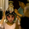 Beijing+During+Olympic+Games+Opera star Yang Liu gets her costume ready backstage at the Peking Opera at the Regal Palace theater August 11, 2008 in Beijing, China